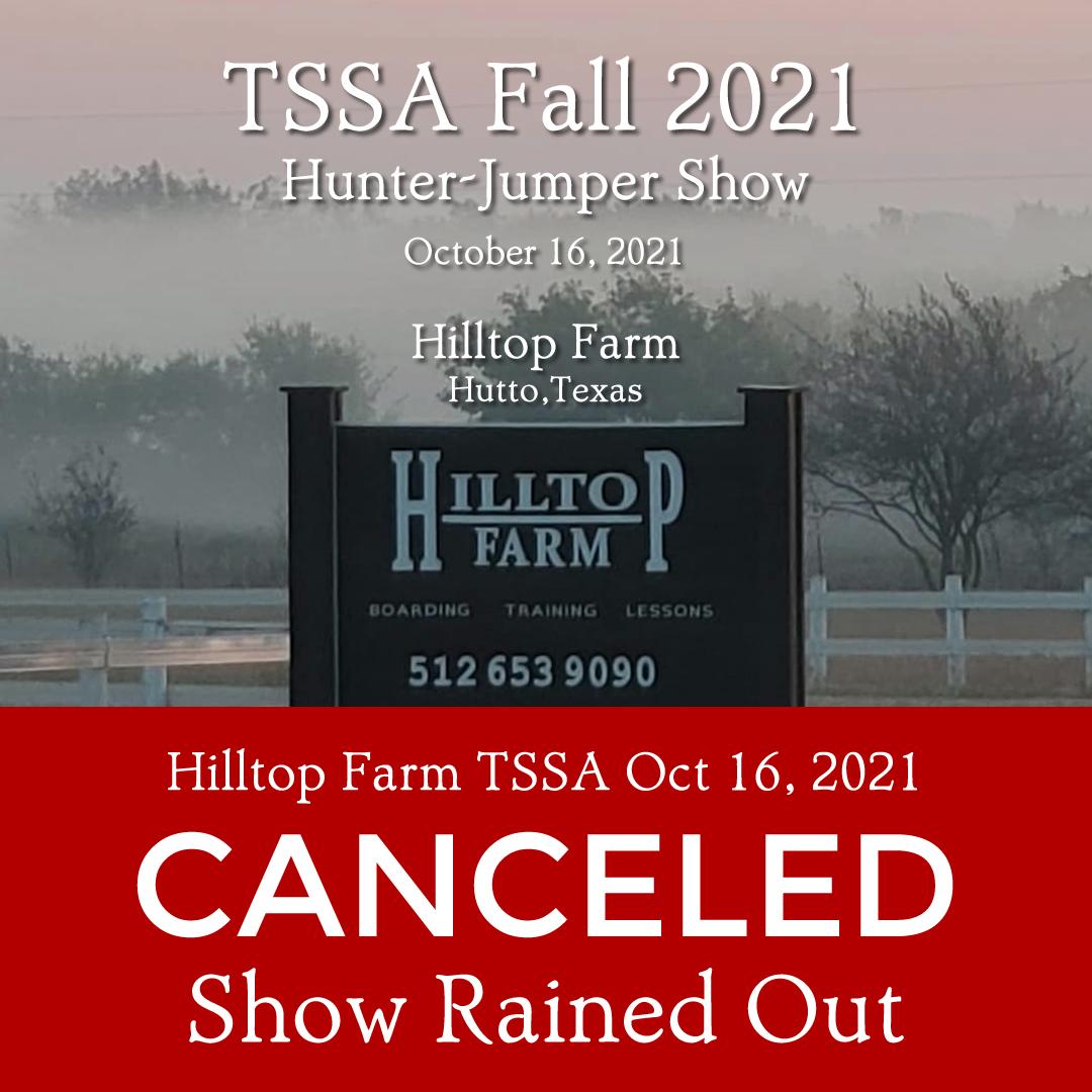 TSSA Oct 16 show canceled